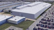 Rendering of proposed FCA plant in Detroit.