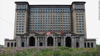 Michigan Central Station in Corktown, Detroit